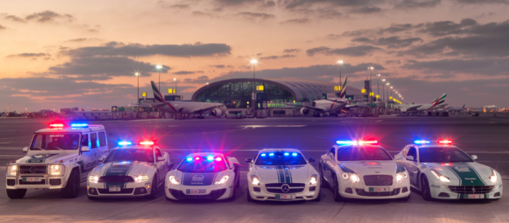 Maintenance of vehicles at Dubai Police