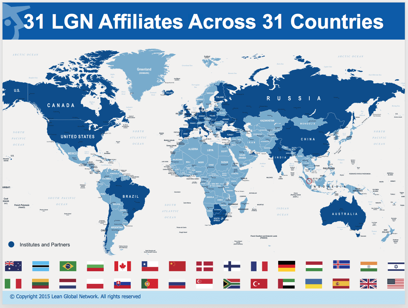 LGN has 31 partners and affiliates around the world