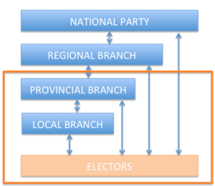 party organizational structure