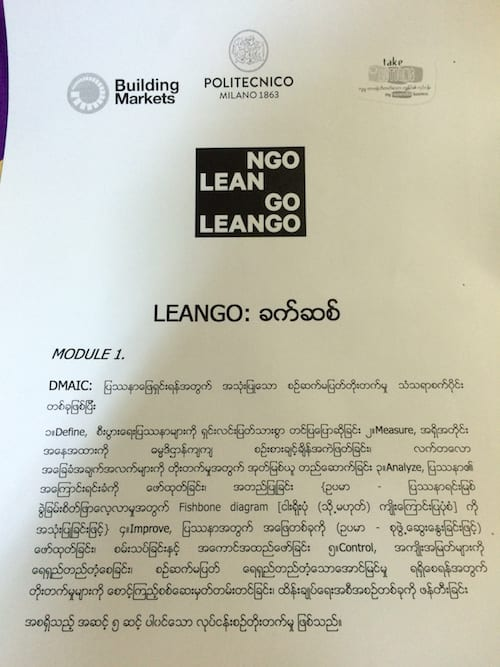 leango project myanmar