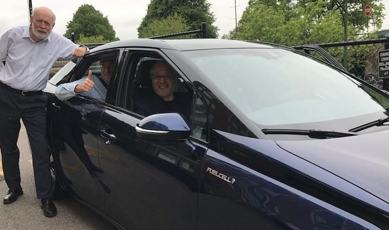 Jim Womack drives the Toyota Mirai lean and green