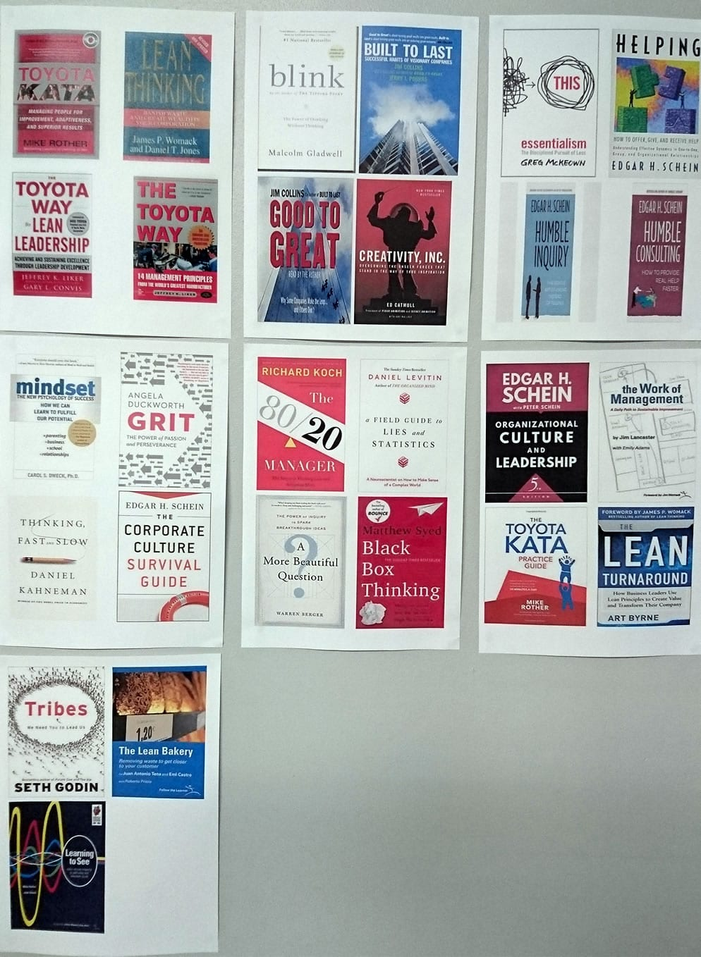 Poster with lean books at Nibbly Bits