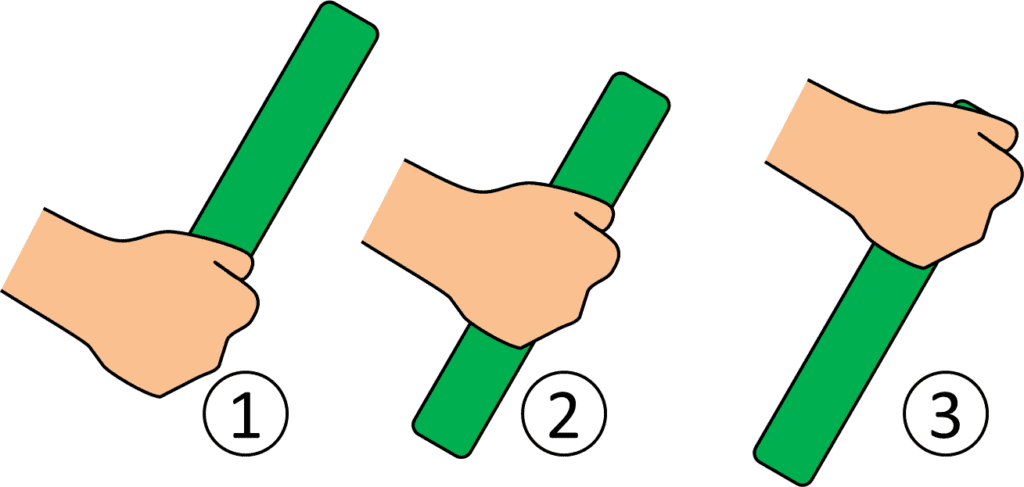 How to hold the baton in relay