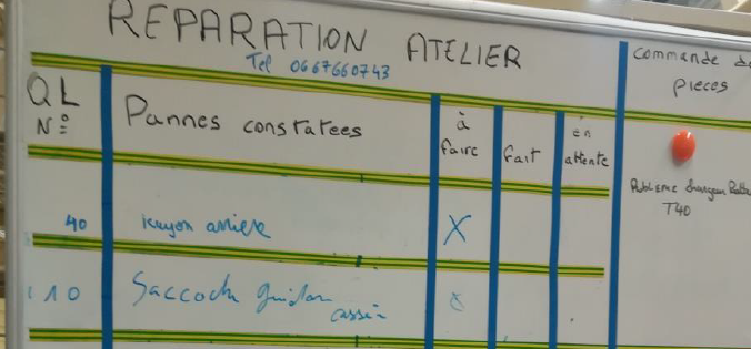 lean visual management at La Poste