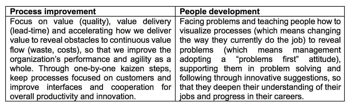 The dual nature of lean management