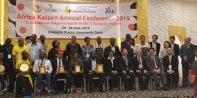 Award recipients at the Kaizen Annual Conference in Tunis