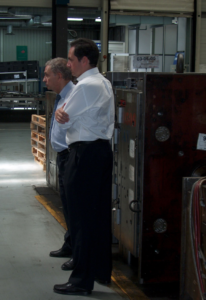 Freddy and Michael Ballé on their first gemba walk together