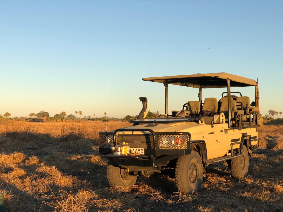 A safari vehicle converted by Kavango Engineering using single-lane flow