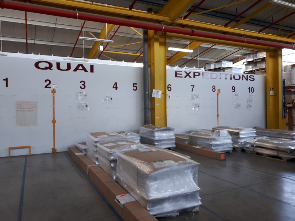 The truck preparation area at Acta Mobilier