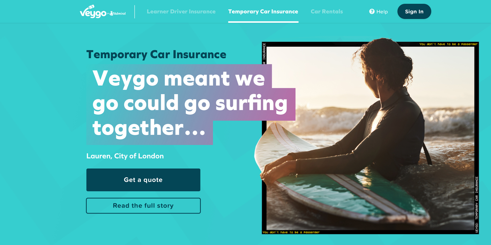 The Veygo website