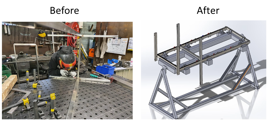 The before and after of trolley production at PCM