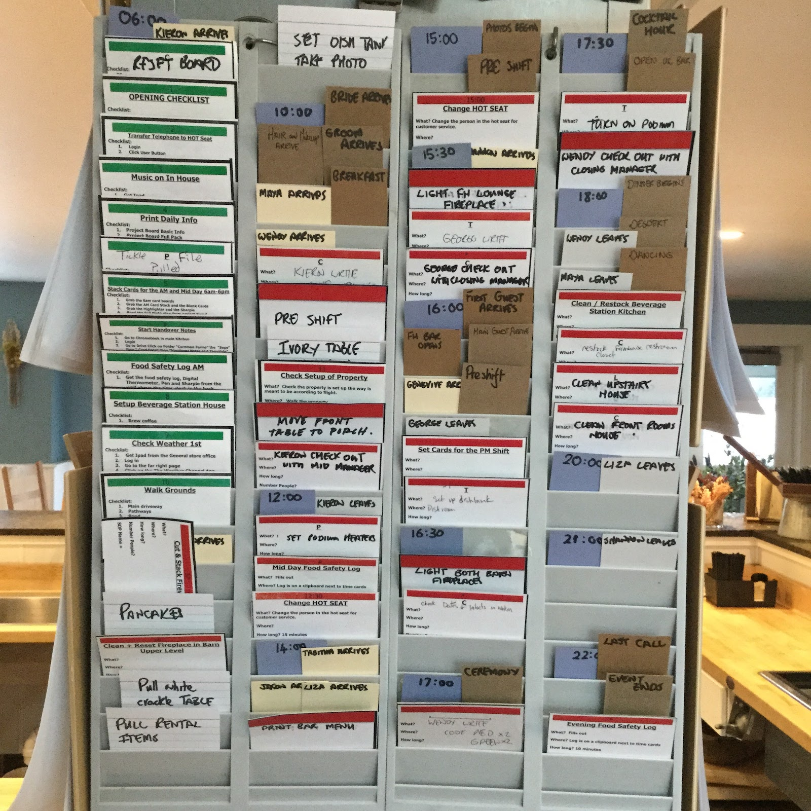 Scheduling using visual management at Cornman Farms
