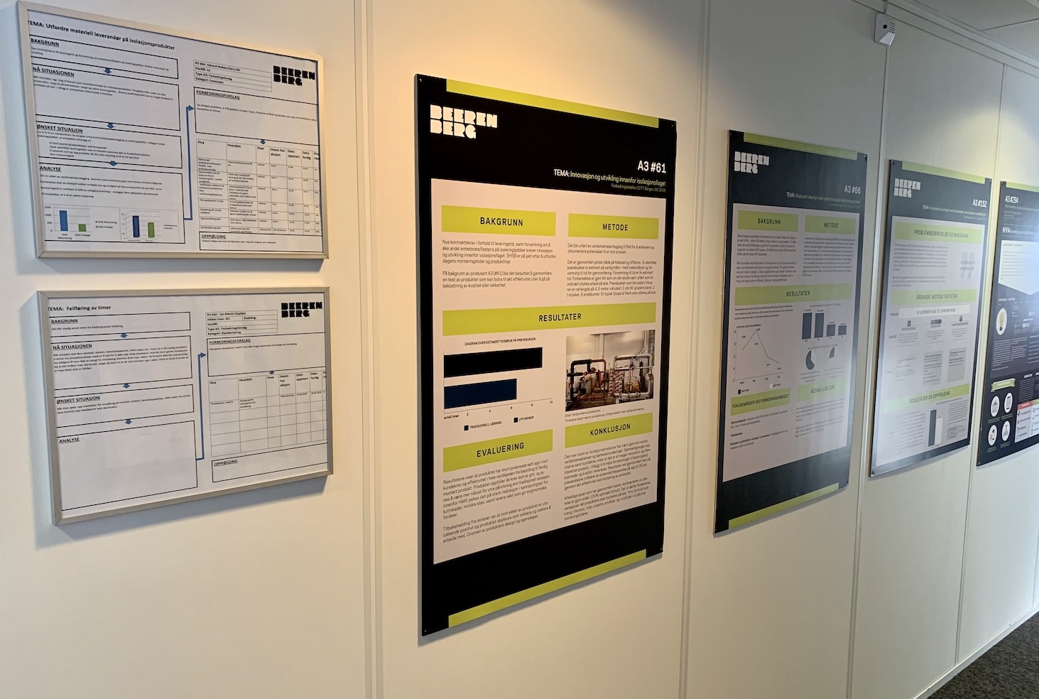 Visual management boards at Beeremberg