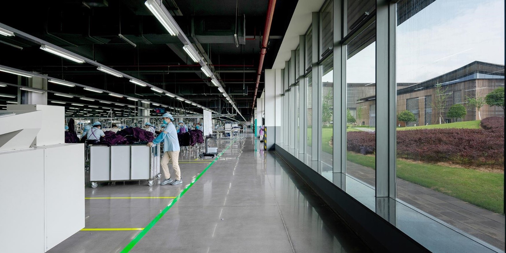 The lean transformation of an Esquel factory in China