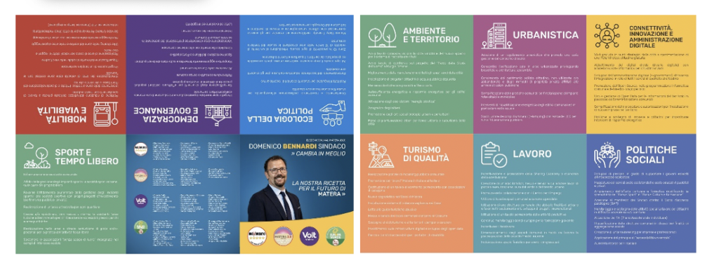 The foldable one-pager to share the candidate's program