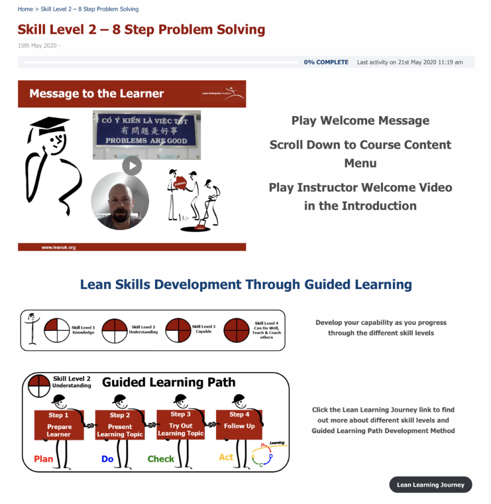 Lean Learning Journey - Example 1