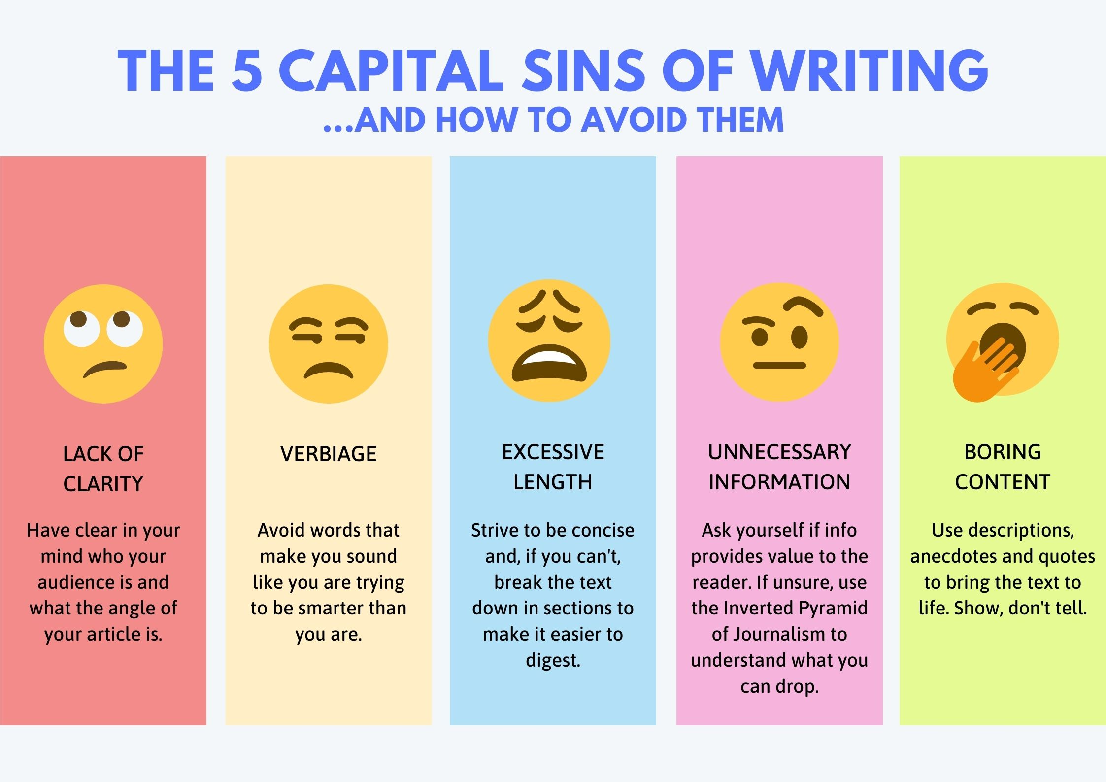 The 5 capital sins of writing
