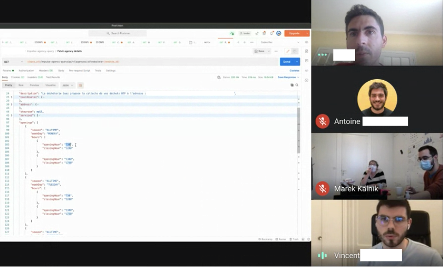Remote meeting at BAM
